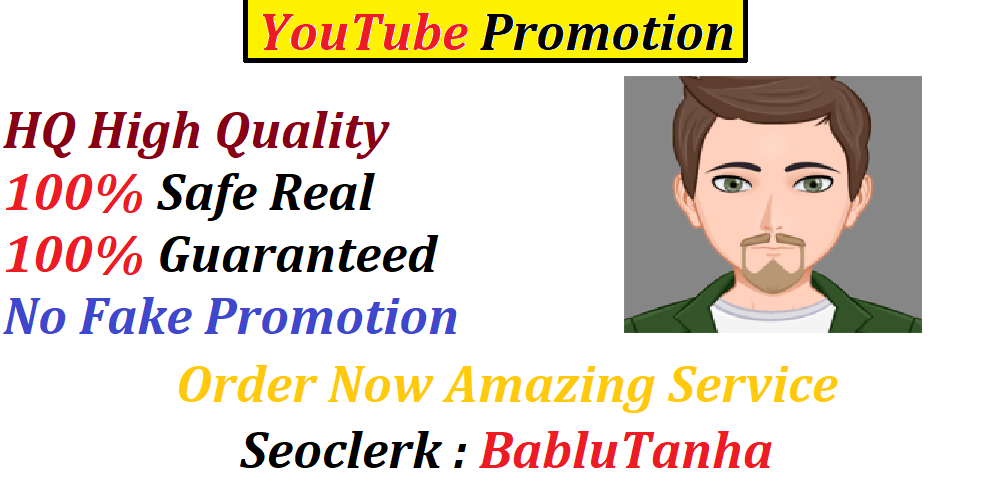 HQ Real Add Safe YouTube Promotion Social Media Marketing Social Networks Fast Delivery