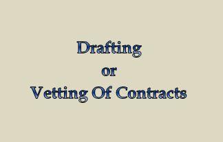 Drafting Agreement or Vetting Agreement