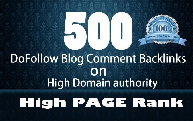 i Will Creat 500 Dofollow Blog Comments With High DA and PA Low OBL Pages.