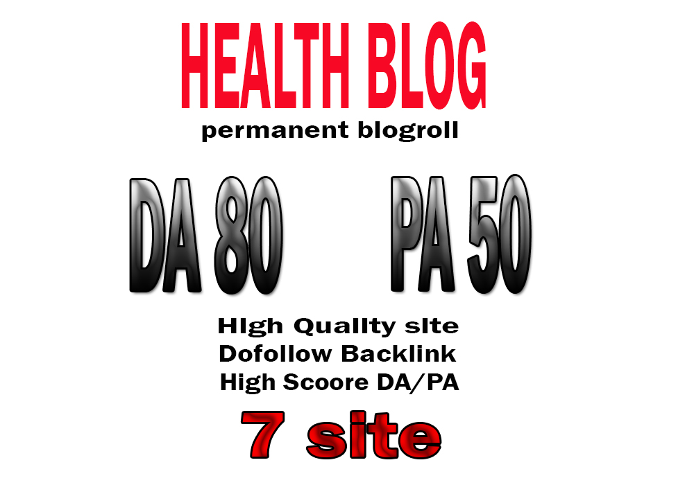 Backlink da80x7 site health blogroll