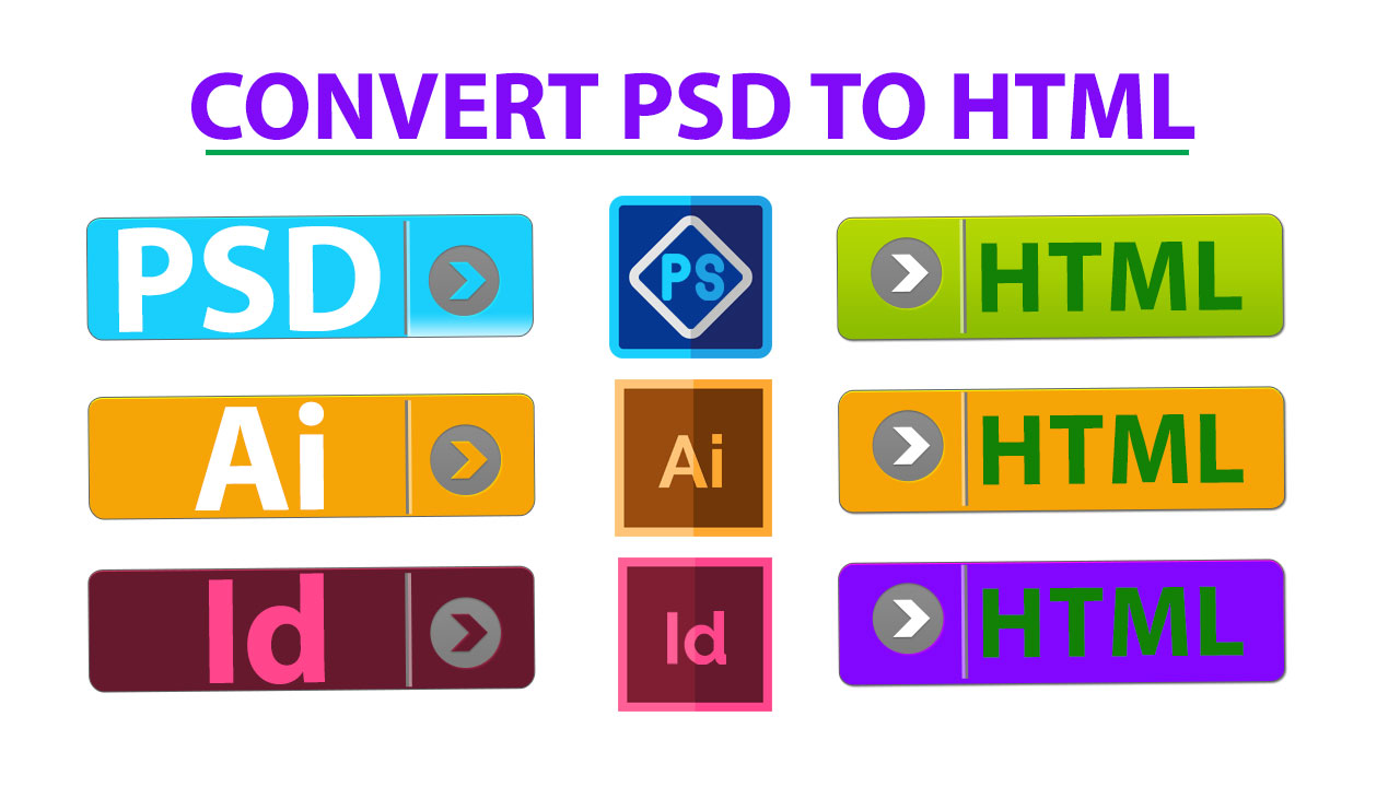I Will Convert Psd, Xd, To Html Responsive,  Bootstrap