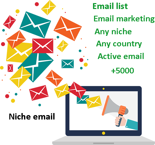 find targeted active email list for email marketing, any niche, country