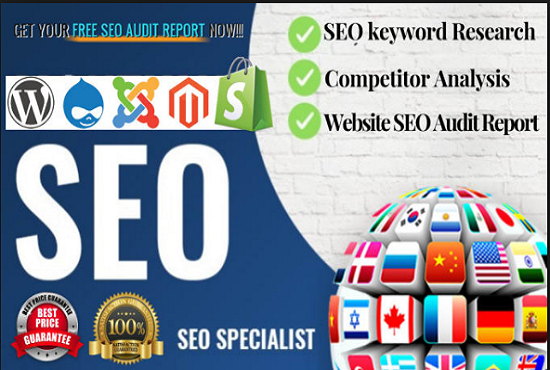 I will keyword research for your Amazon Product with free Seo Audit