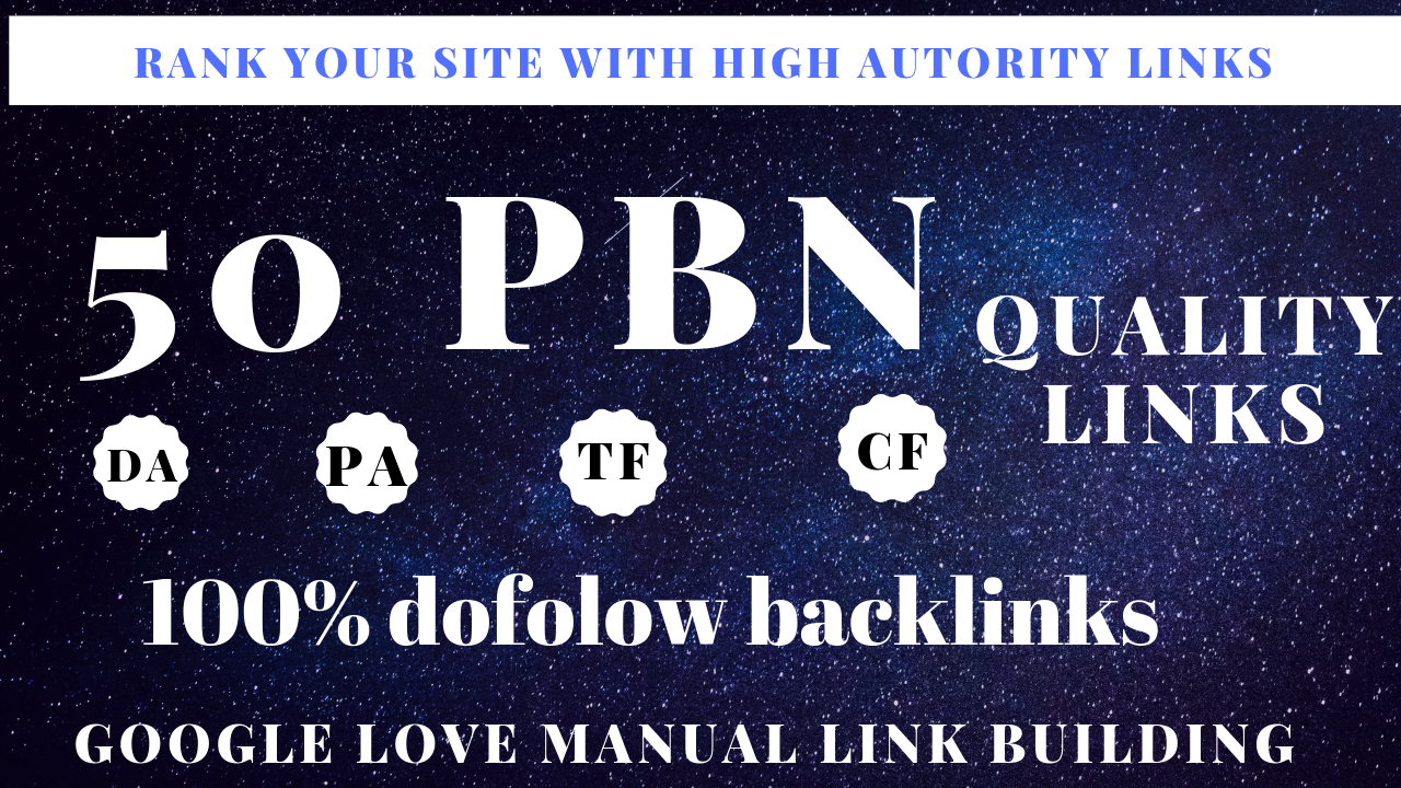 rank your site with high authority links
