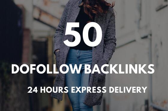 I Will do 50 link building backlinks seo service