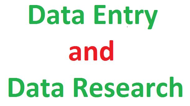 Perfect web Research and Data entry for your Project & Article
