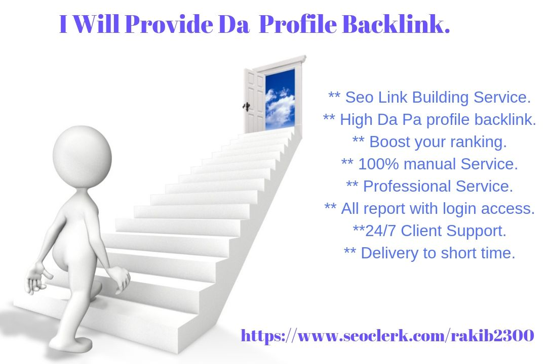 I Will Create 30 Domain Authority Profile Backlinks Manually