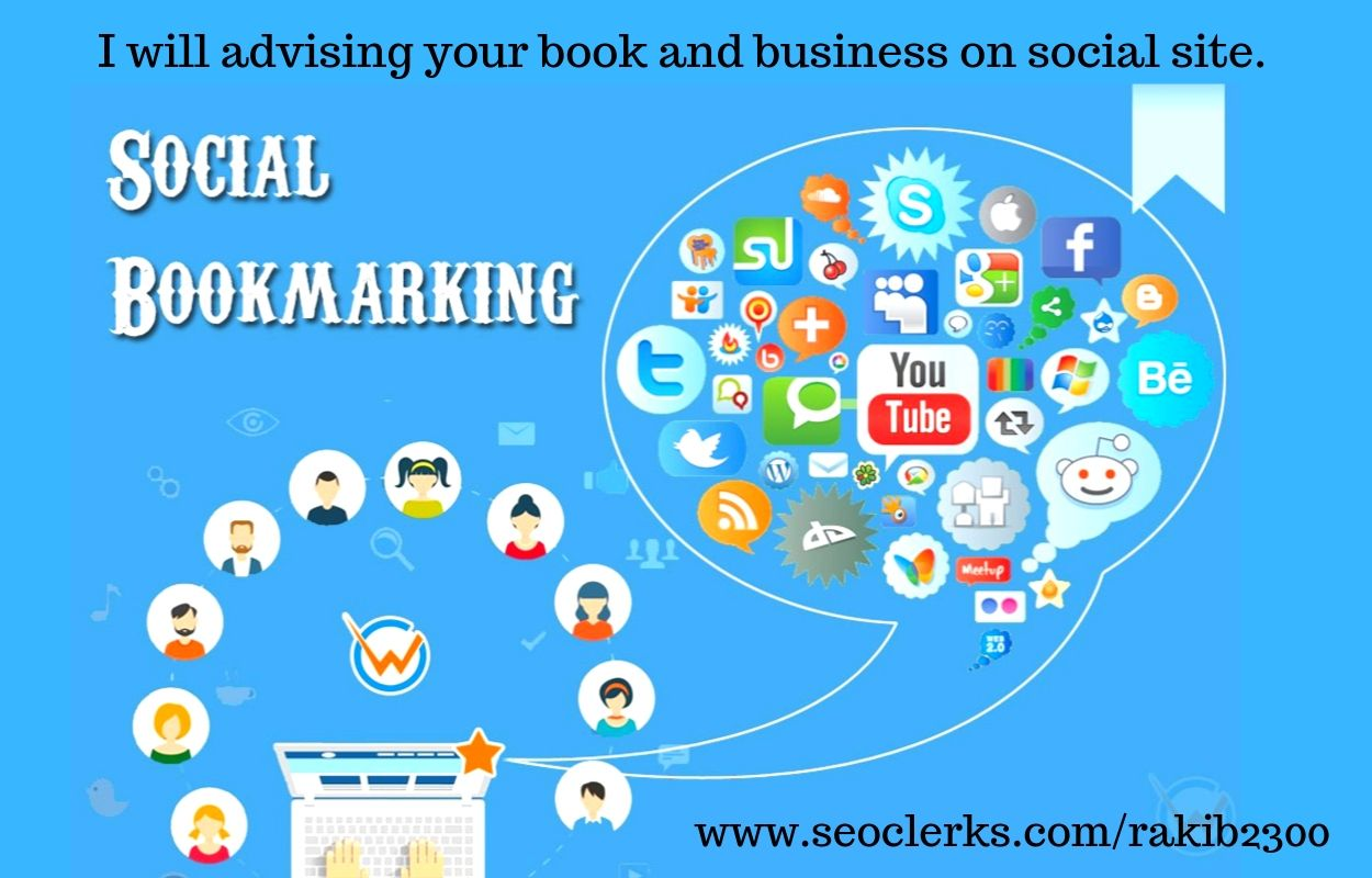 I will advising your books and business manually 100 bookmark with high quality on social site