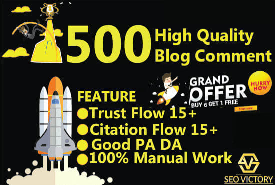 Create 500 Blog Comment High Quality Backlink