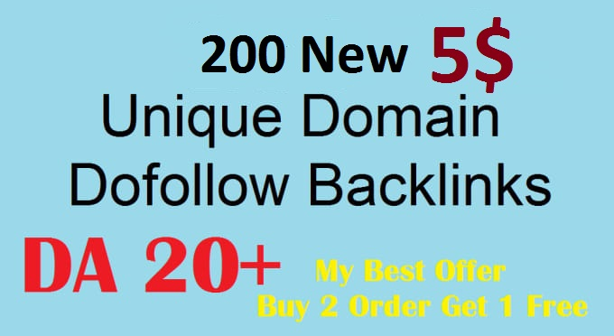 200 dofollow blog comments backlinks with high DA PA