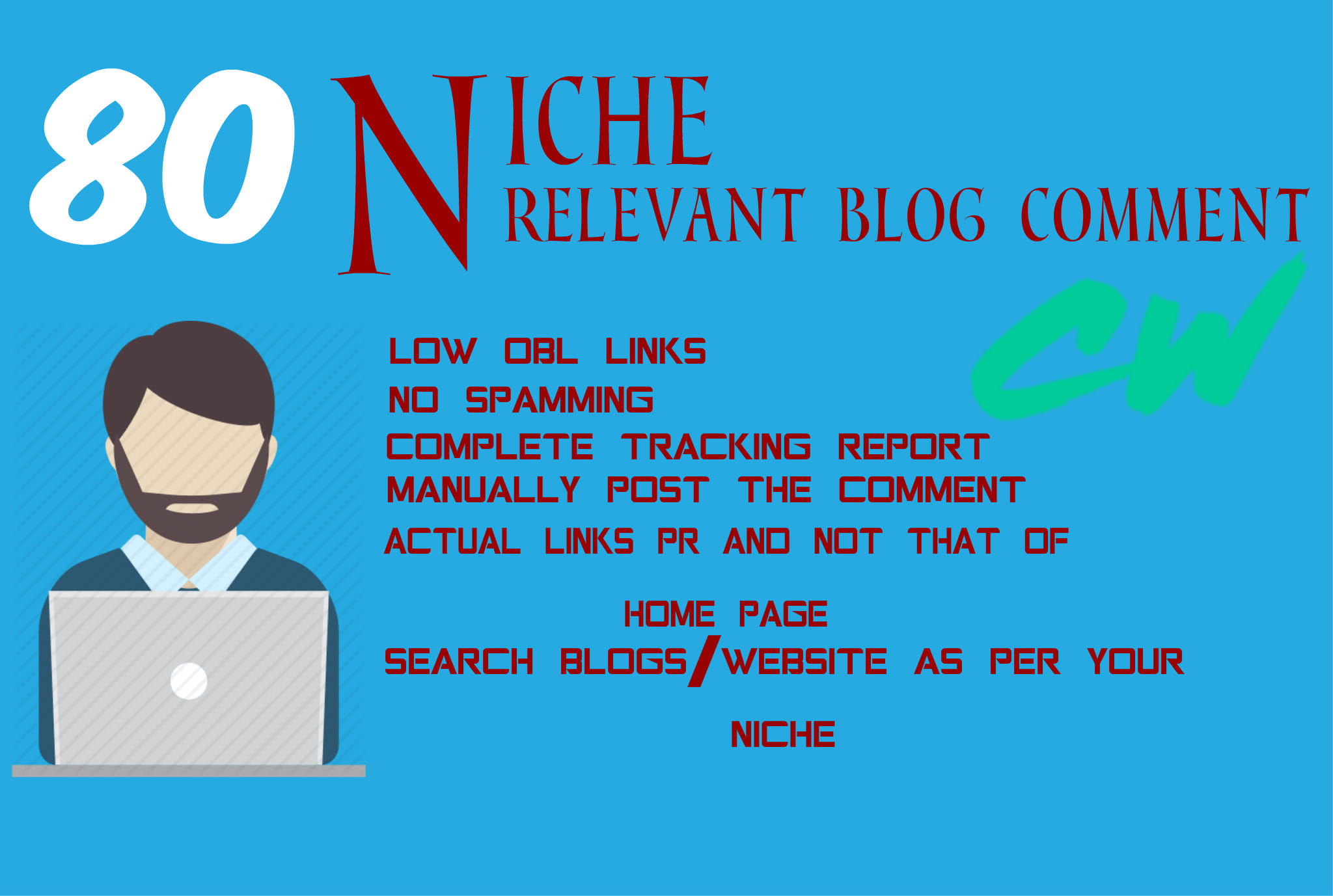 Provide 80 Niche Relevant Blog Comment quality work