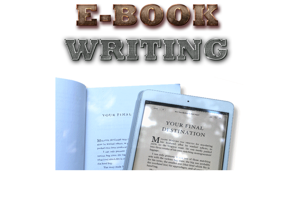 do E-book writing and ghostwriting for you