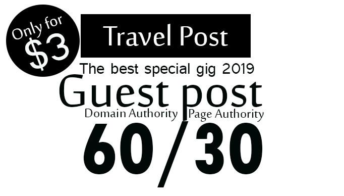 Publish guest post on da60 google travel website