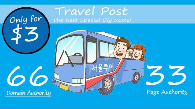 Publish guest post on da66 google travel website