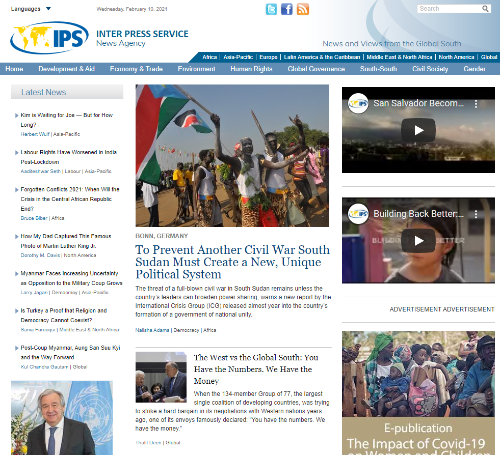 Publish article on ipsnews.com