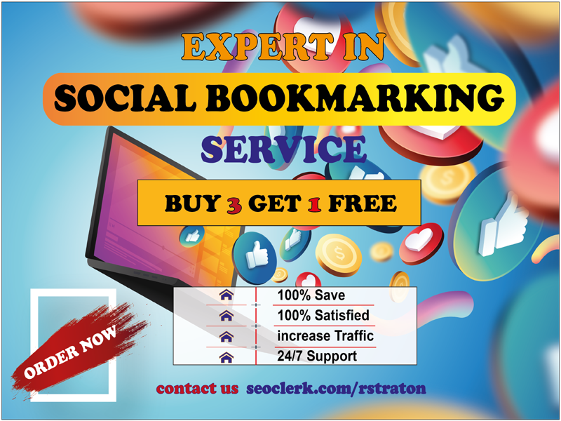 I will create Manually 40 PR9 Social Bookmark Backlinks