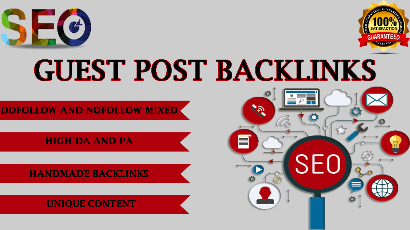 Create 10 guest post backlinks on High DA PA