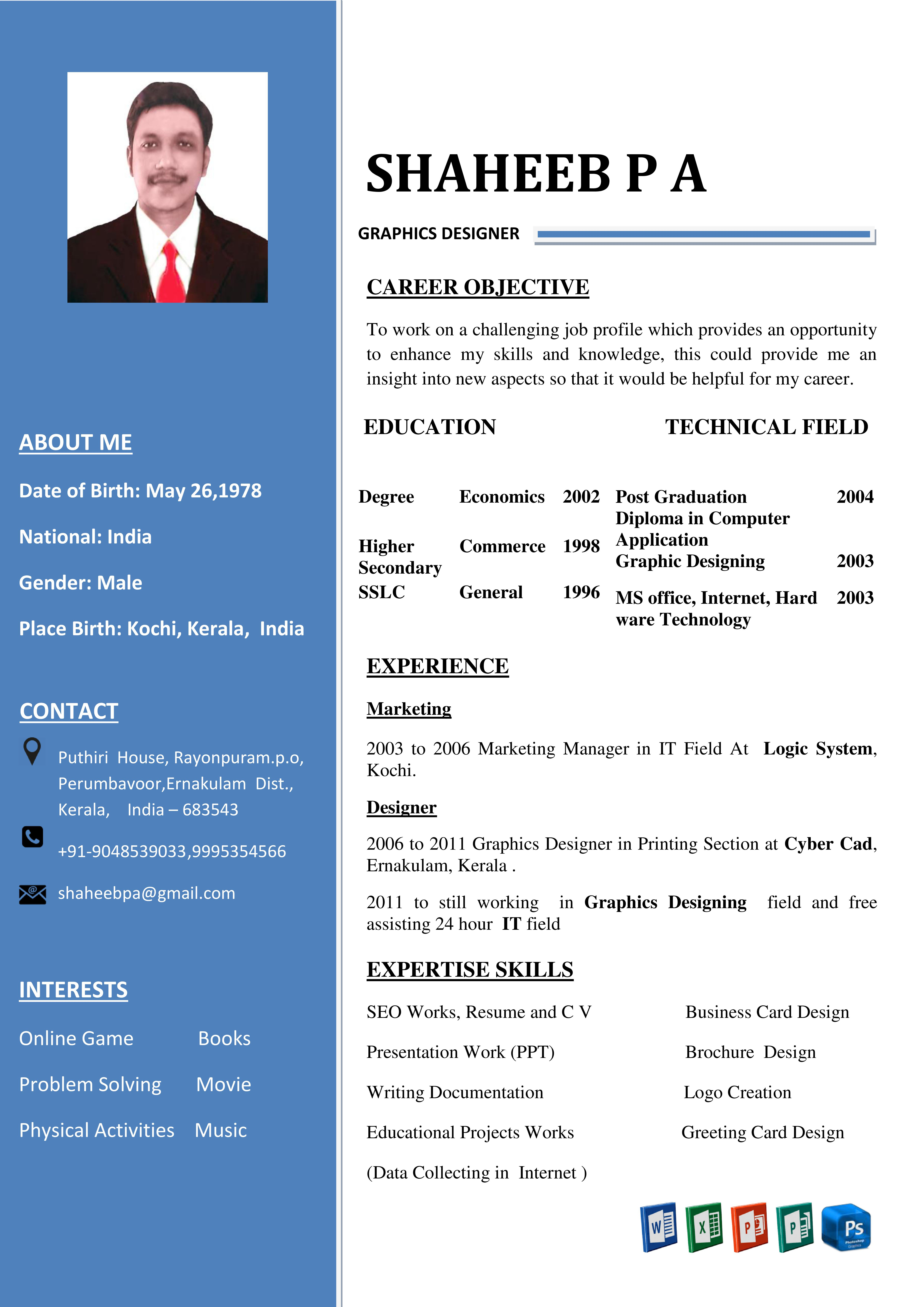 Resume & CV Different Type - Each Page 1