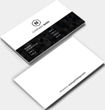 Business Card one side & two side $2