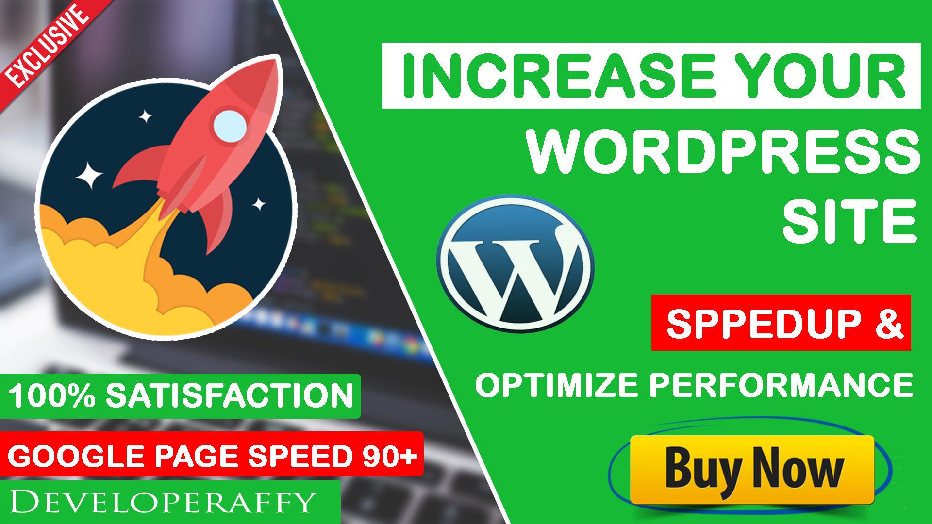 WordPress Speed Optimization,  Speed up WordPress website Speed