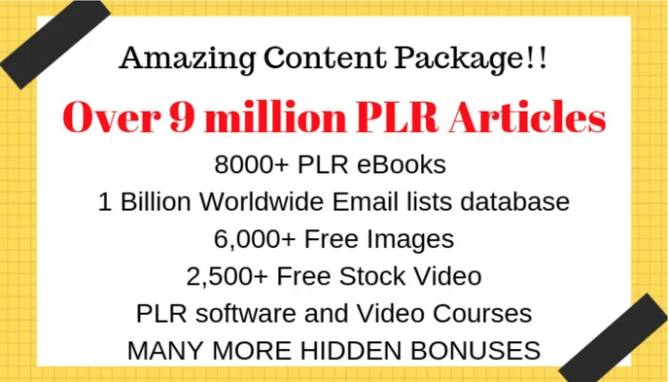 I will send 9 million plr articles,  ebooks,  images and bonuses