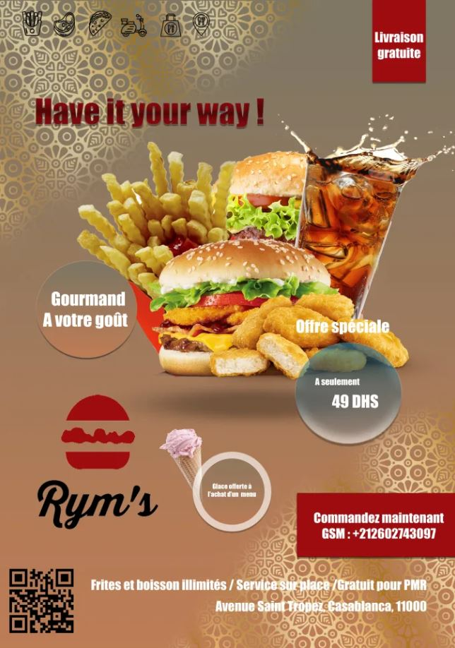 Great restaurant menus and flyers within 4 hours