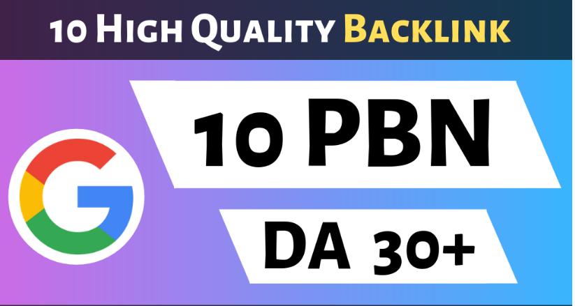 10 Powerful PBN High DA 25 Dofollow Backlinks