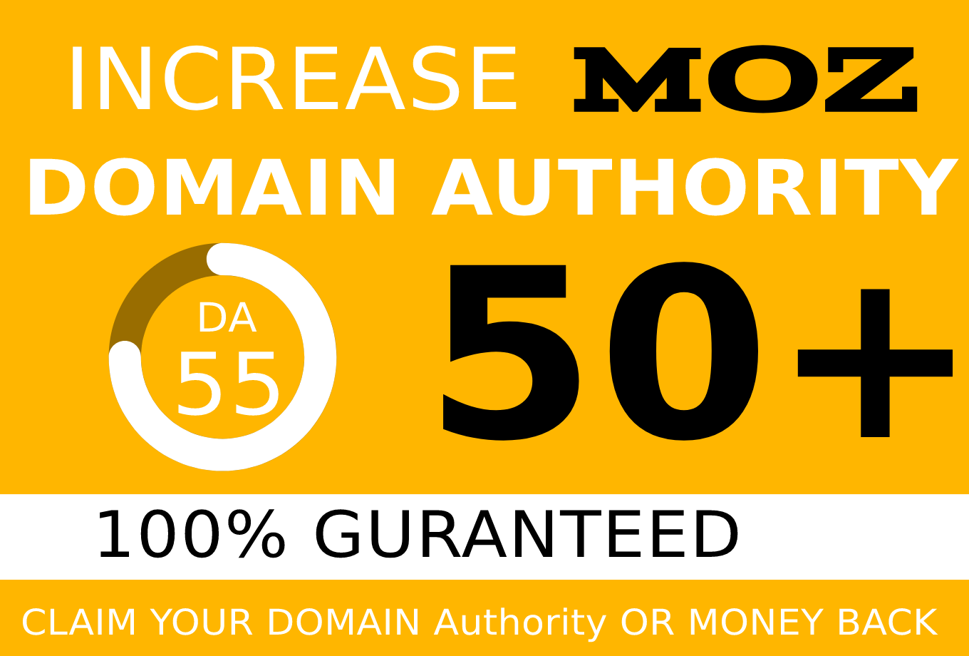 I will increase domain authority 40+ with White hat backlinks