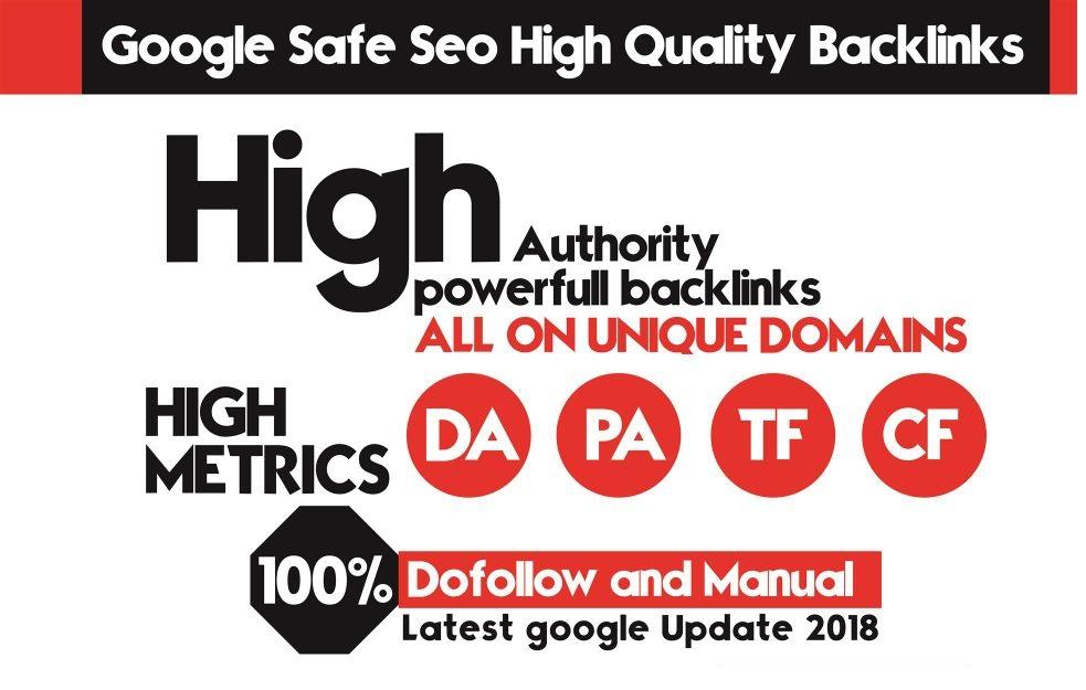 Do increase domain authority with 80 pr10 SEO backiinks,  Da100,  Tf50