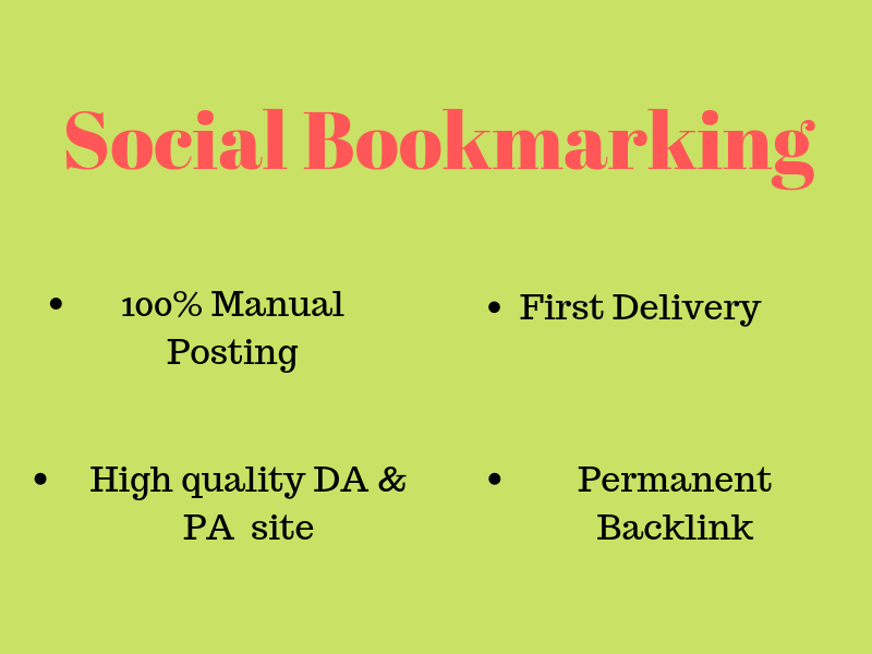 I will 200 Bookmarking in High quality DA PA sites Manually