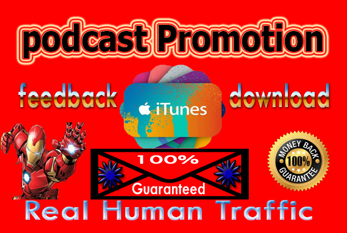 I will do promote your podcast multiple social media platforms
