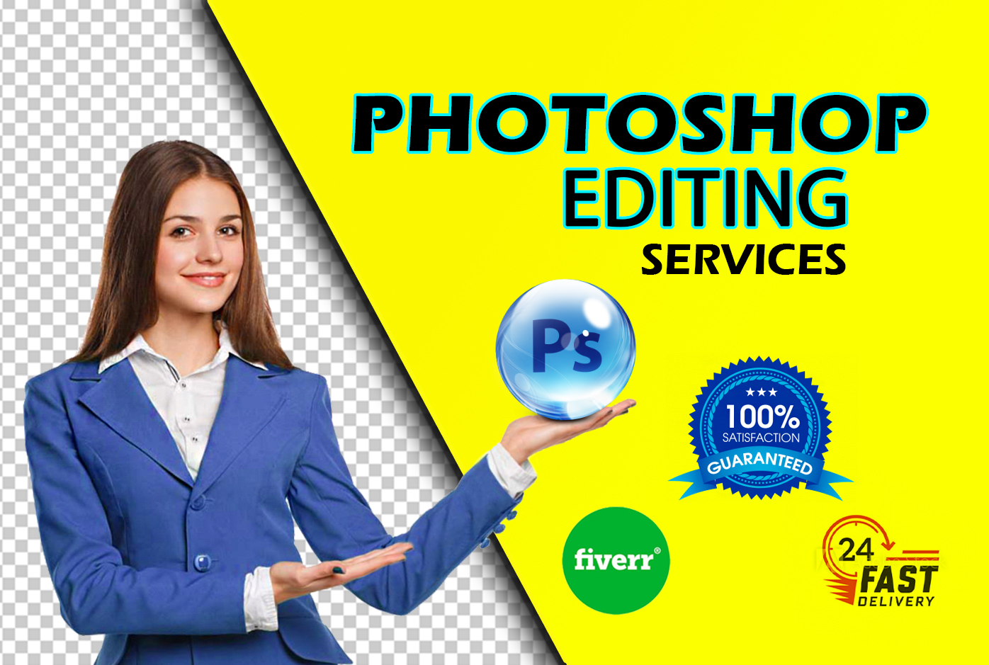 I will do professional Photoshop and Editing background remove from images