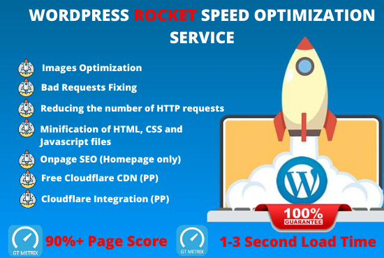 I will increase wordpress speed optimization with free CDN in 24 hours