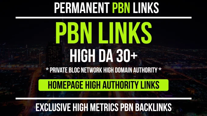 Provide You 10 Pbn Links From 30 To 50 Da Pa Pbn Sites