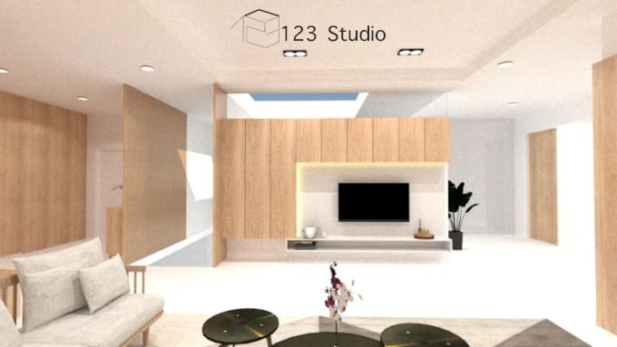 design and render a living room interior