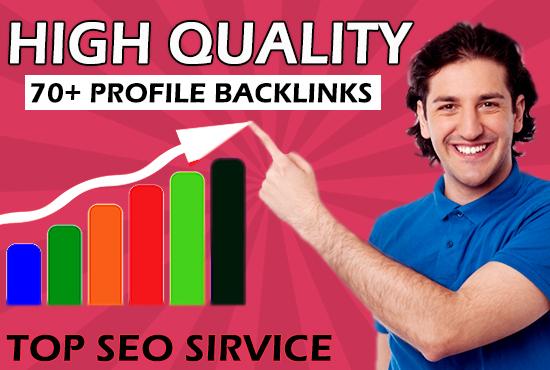 Do Build 70+ High Da SEO Profile Backlink