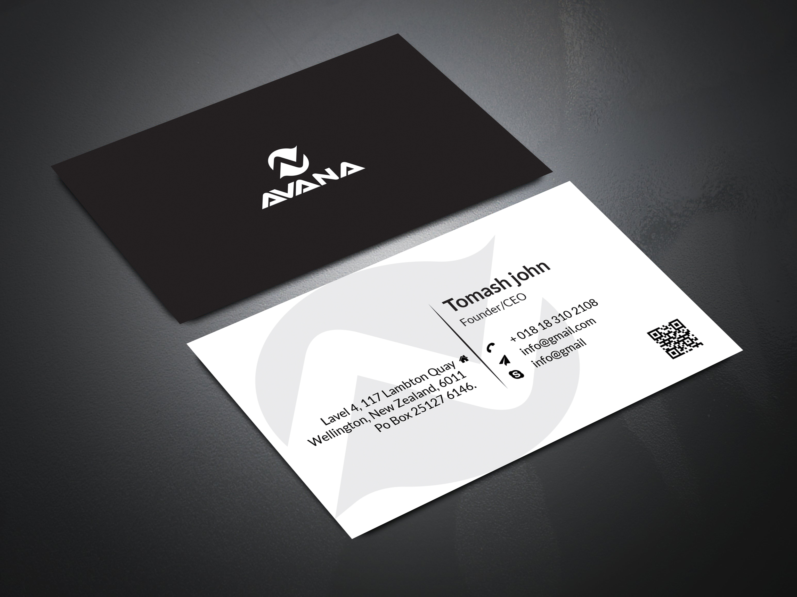 It's a smart color business card.