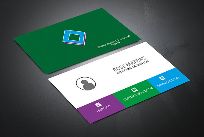 This is a modern business card for you & your com.