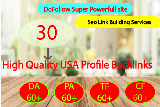 30 high da pa backlinks for your website