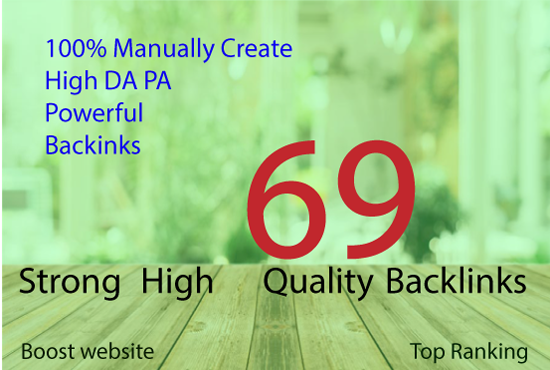 manually create high da pa powerful backlinks