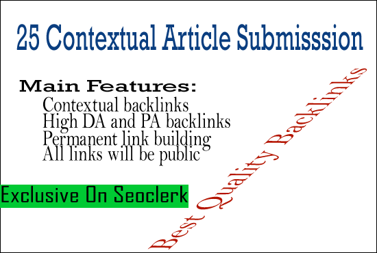 25 Best Contextual Article Submission For Google Rank