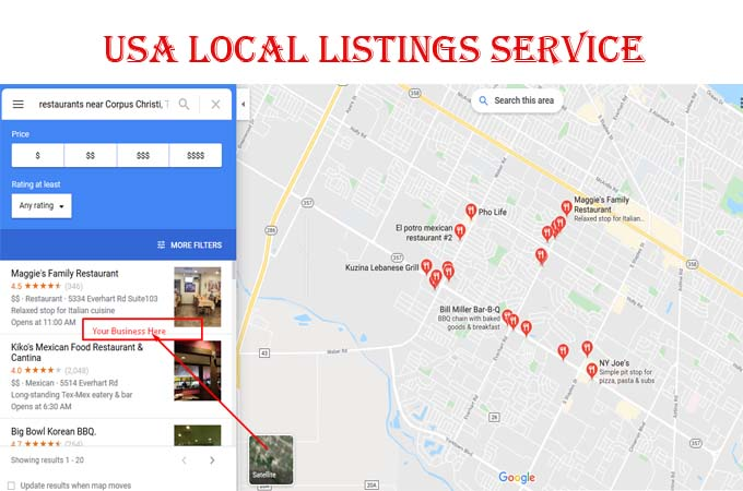 30 Local Listings Service for USA local Business Ranking