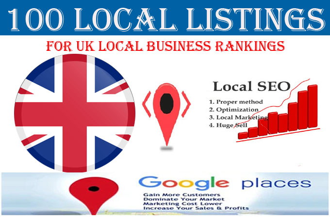 I will do 100 local listings for UK business