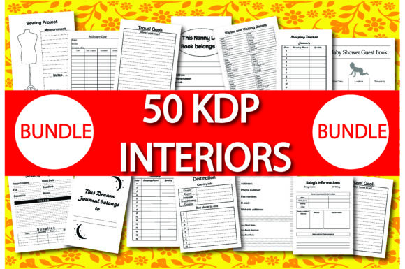Bundle Pack 50 KDP Interiors Graphic - special offer