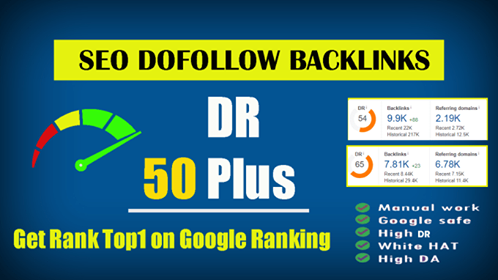 10 Manual HIGH DR 50Plus Homepage PBN Backlinks