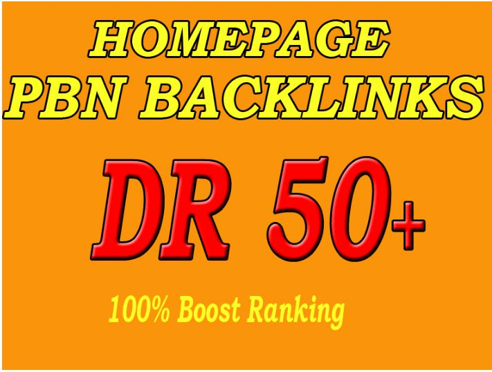 Build 10 Permanent DR 50+ Homepage PBN Dofollow Backlink