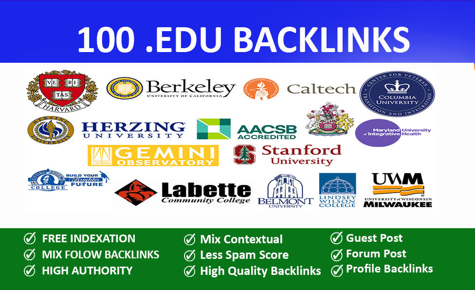 100 EDU Backlinks Manually Created From USA Universities