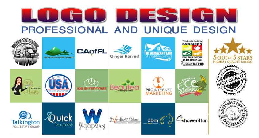 Premium Quality,  Professional and Unique Logo Design