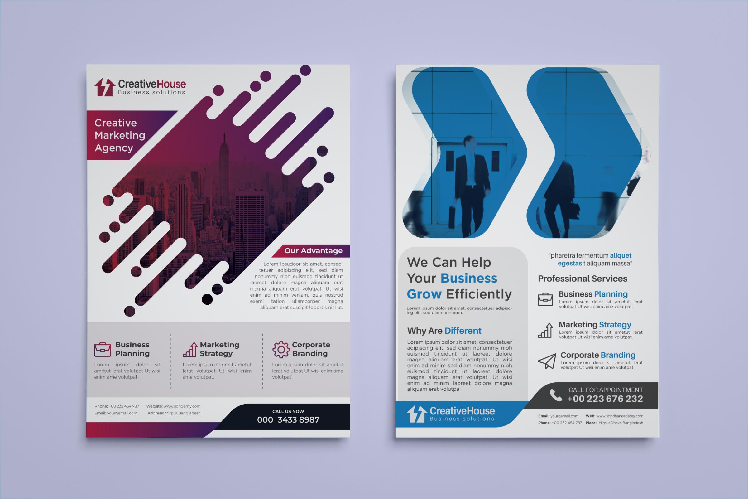professional corporate flyer, Brochure,poster design in 24 hours