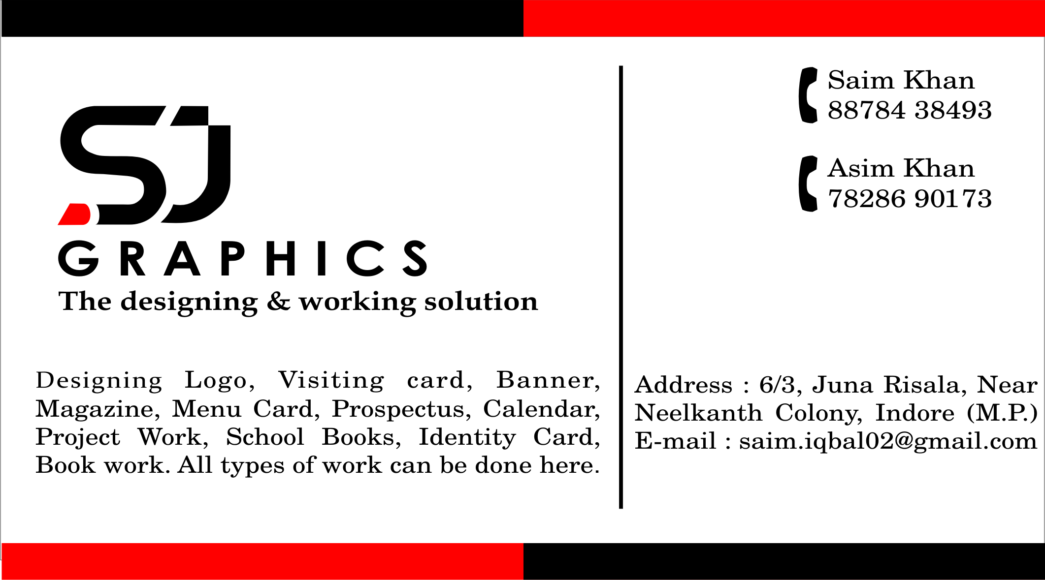 Business card and logo designing